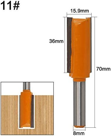 ZZB-ZT, 1pc 8mm Schaft gerade Lange Klinge Flush Trim Holz Fräser Industrial Grade Zwei Flöten Holzbearbeitung Fräser (Size : NO 4)