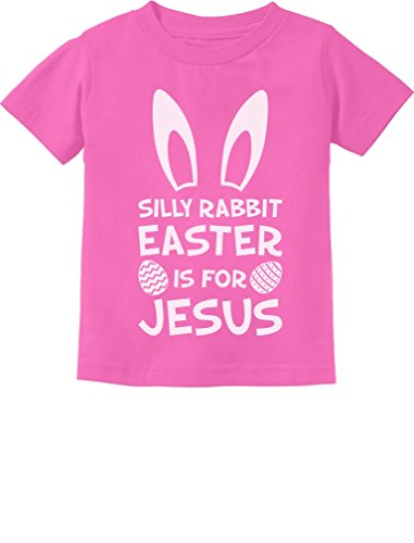 fe0584d8adc Silly Rabbit Easter is for Jesus Cute Toddler Kids Christian Religious T- Shirt 5/
