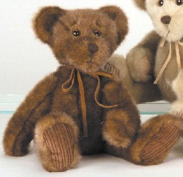 Minky Bear, 7 Inches Seated - Chocolate Brown Plush Teddy Bear From First and Main
