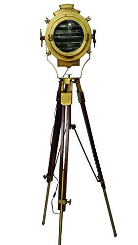1970's Captain's Lamp With Tripod Stand in Brass Finish F...