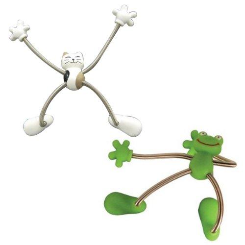 Magnet Frog Fridge - Wrapables Spider Magnet, Cat and Frog, Set of 2