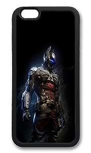 iPhone 6 Back Case - Arkham Night Dark Batman Digital Illust Art TPU Bumper Case for iPhone 6 4.7 Inch Black