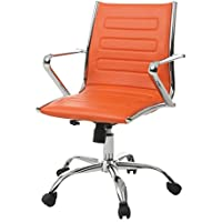 Impacterra Highbore Office Chair, Chrome/Orange