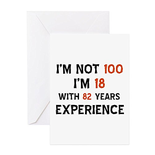 CafePress - 100 Year Old Designs - Greeting Card, Note Card, Birthday Card, Blank Inside Glossy