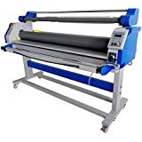 """US Stock 60"""" Full -auto Wide Format Large Cold Laminator Automatic Take Up Low Temp Roll Laminating Machine Heat Assistance 110V"""