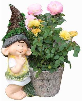 Garden Sculpture Estatuas para jardín Elf Jardín De Resina Decoración - Enano De Jardín/Cisne/Aves Macetas De Jardín Adornos Crafts Child (B): Amazon.es: Hogar