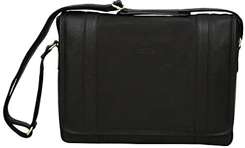 Messenger Bag aus Echtleder mit 13 Laptop-Fach - Hergestellt in Italien - Cognac Cognac CUZt3HToR