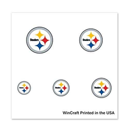 Pittsburgh Steelers Fingernail Tattoos - 4 Pack -
