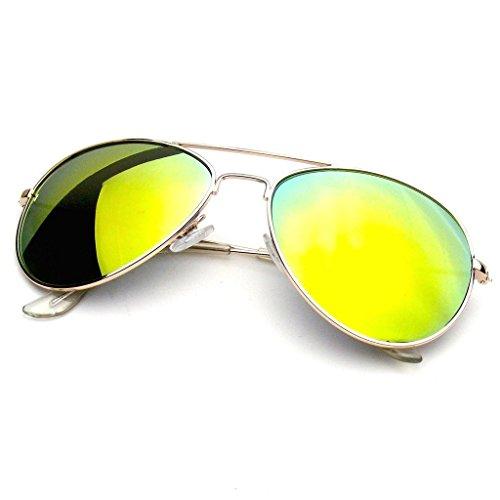 Espejo Lente Piloto Vintage Lentes De Hombres Retro Gafas De Nuevo Mujeres Moda Sol Aviador Marco Espejo Emblem Naranja de Eyewear wYBPw0