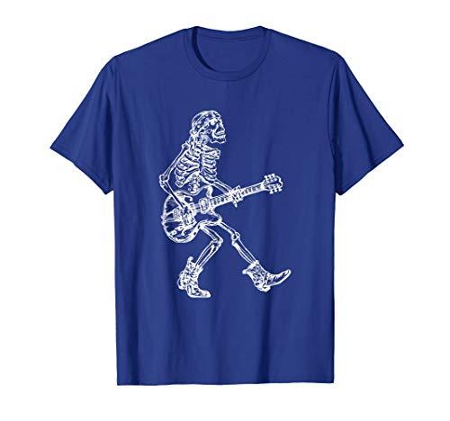 SEEMBO Skeleton Playing Guitar T-Shirt Funny Gift