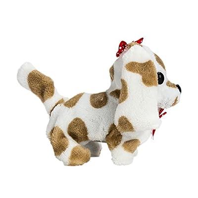 Wonderful Gift Shop Wagging Walking Barking Electronic Brown Spots Plush Puppy Toy: Toys & Games