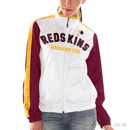 Licensed Sports Apparel Washington Football Redskins Women's Sideline White Full Zip Track Jacket - L