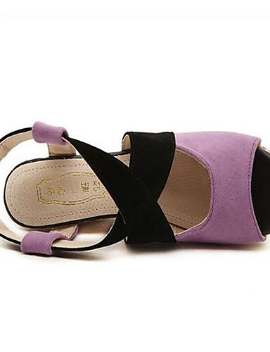 ZQ mujer eu36 Rojo us5 cn35 eu36 uk4 us6 cn36 purple Tac¨®n uk3 Robusto uk4 Casual Tacones us6 cn36 de 5 Naranja purple eu36 purple Tacones Zapatos 5 Morado PU gEfHrE