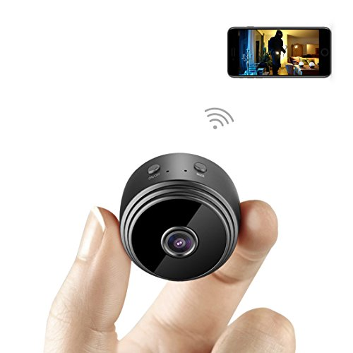 Mini Spy Camera WiFi Hidden Camera AOBO Wireless HD 1080P Indoor Home Small Spy Cam Security Cameras/Nanny Cam Built-in Battery with Motion Detection/Night Vision For iPhone/Android Phone/iPad/PC