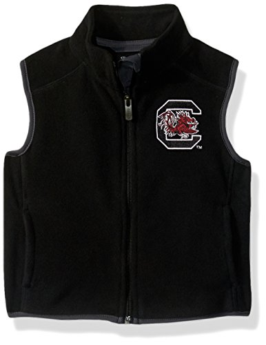 NCAA South Carolina Fighting Gamecocks Kids & Youth Boys Scrimmage Polar Fleece Vest, Black, Kids Small(4) by NCAA by Outerstuff