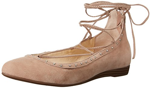 Annie Leather Wedges - Jessica Simpson Women's Libra Pointed Toe Flat, Totally Taupe, 8 M US