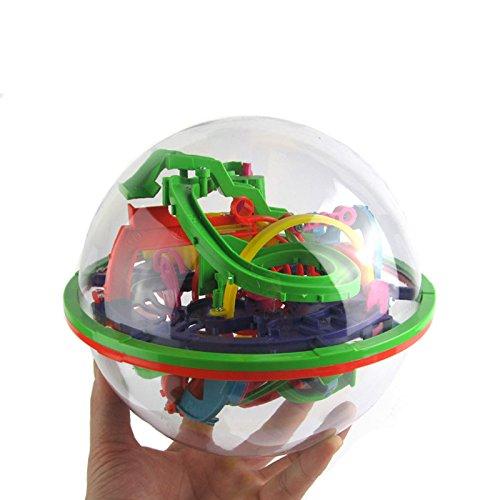 (Villexun Large Spherical Maze Ball Puzzle Balance Game Ball 138 Challenge Barriers 3D Magical Intellect Ball Educational Toy)