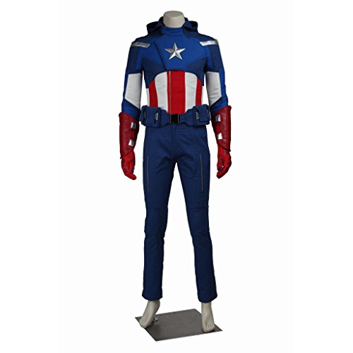Captain Steve Rogers Costume (CosplayDiy Men's Costume for The Avengers I Captain America Steve Rogers XL)