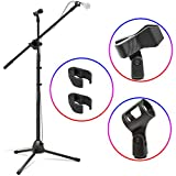 Kasonic Microphone Stand, Heavy Duty Adjustable Collapsible Tripod...