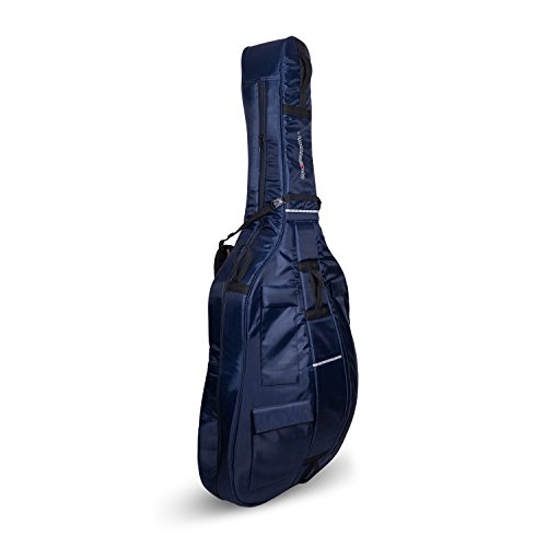 Crossrock Upright String Double Bass Soft Gig Bag with Padded Backpack Straps in Blue (CRDB206DBBL)