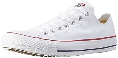 Converse Unisex Chuck Taylor All Star Ox Basketball Shoe (Men 9.5 Women 11.5, Optic White)
