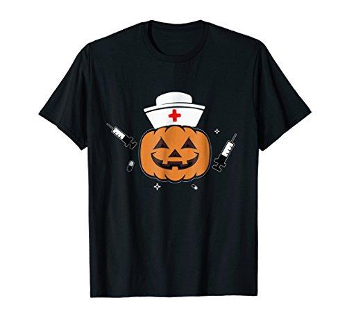 Halloween Nurse T-shirt Scary Pumpkin Hospital Night