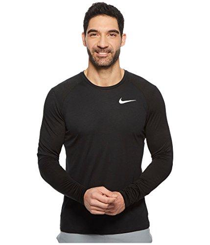 NIKE Miler Men's Long Sleeve Running Top Black SZ Large (Nike Miler Long Sleeve)