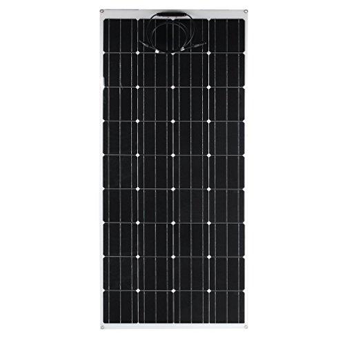 Solar Ultra System (Kath Solar Panel Monocrystalline Flexible Sun Power Module Ultra Thin Solar Power Charging System Outdoor Practical Solar Charging Device (175W))
