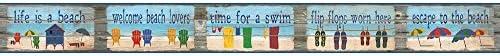 York Wallcoverings bp8180bd BorderポートフォリオIIビーチハウスルールBorderリムーバブル壁紙、、、ブルー/レッド/グリーン/イエロー