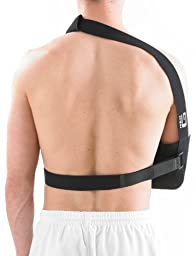 NEO G Airflow Breathable Arm Sling - Medical Grade Quality with waist strap, breathable, lightweight fabric, comfort fit, HELPS support & elevate arm, injury recovery, pre/post surgery-ONE SIZE Unisex