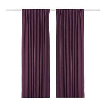Curtains Ideas 300 cm length curtains : IKEA WERNA 2 in Purple Curtains, 145 x 300 CM: Amazon.co.uk ...