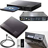 Sony BDP-S3700 Blu-Ray Disc Player with Built-in Wi-Fi + Remote Control + High-Speed HDMI Cable with Ethernet
