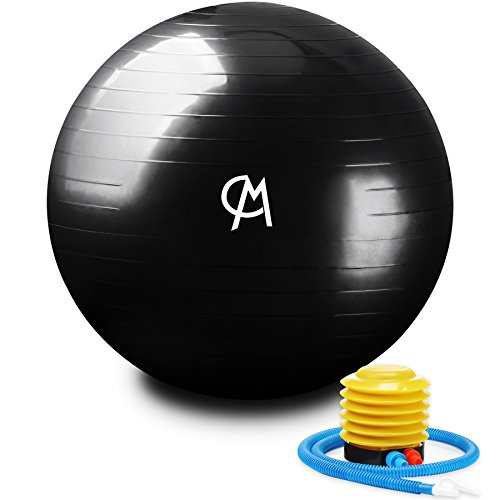 CHICMODA Exercise Ball (Multiple Sizes) Extra Thick Yoga Ball Chair, Anti-Burst Heavy Duty Stability Ball Supports 2200lbs, Birthing Ball with Quick Pump (Office & Home & Gym) by CHICMODA