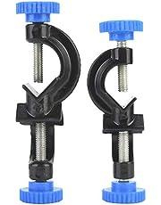 2 stuks Lab Cross Clamp Holder, aluminium gespoten Cross Clamp Lab Stand Clamp Holder voor laboratorium