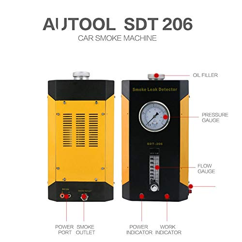 SDT-206 Car Smoke Machines Professional Repairing Adjustable Flowmeter Cars Leak Locator Automotive Diagnostic Leak Detector by Wal front (Image #2)