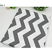 50*160cm Grey Dark Blue Stars Chevron Design Cotton Fabric for Baby quilts Pillow Cushion Sewing Fabric Material Patchwork