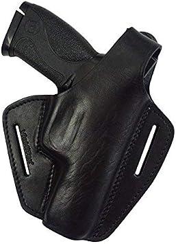 VlaMiTex B2 Funda de Pistola de Cuero, para el cinturón, para Pistolas S&W M&P9, M&P9L y Pro Series M&P40, Negro