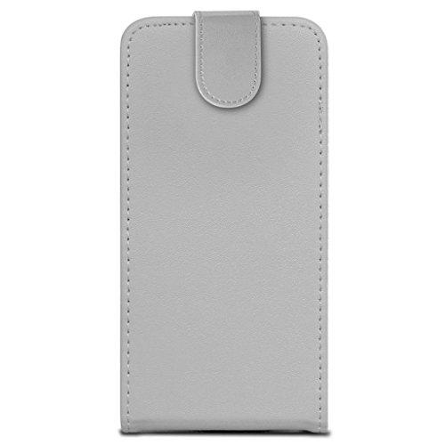 N4U Online - Apple Iphone 4 / 4S en cuir PU flip Housse & Film LCD - Blanc