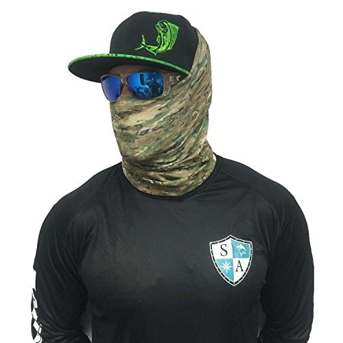 Sa company woodland multicam face shield fits all camo for Sa fishing face shield review