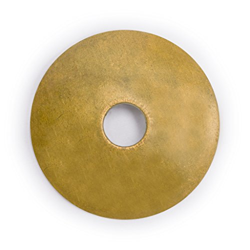 Tall Brass Backplate - CBH Convex Round Brass Backplate Washers Hardware 1-1/8