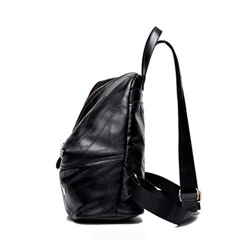 Y&F Reisetasche SchüLertasche Rucksack Schultertaschen Schwarz 28 * 26 * 14 Cm