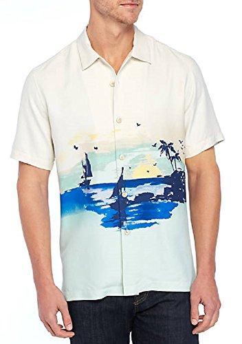 Tommy Bahama Sunset Sails Silk Camp Shirt (Color: Mint Mojito, Size XL)