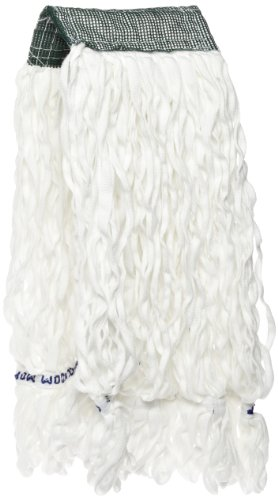 Rubbermaid Commercial FGT30000 Clean Room Mop, 5-Inch Green Headband, White