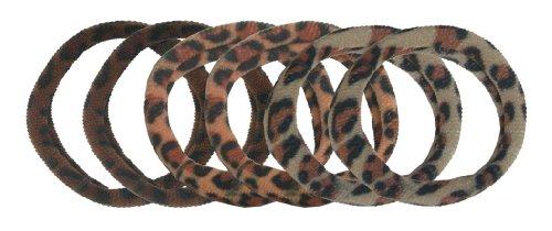 SMOOTHIES Leopard Elastics 6pk, 6 CT