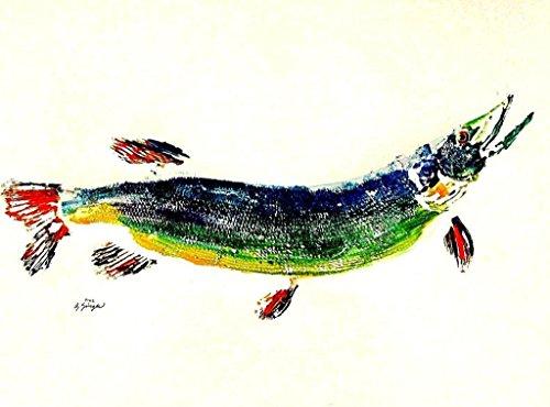 Great Northern Pike GYOTAKU fish Art print 8.5 X 11 inch by
