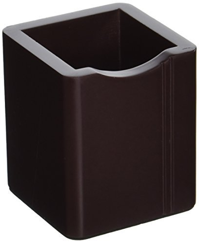 DealMux Cube mesa de escritório de madeira em forma de suporte, Régua, Lápis Pen recipiente, café Color ()