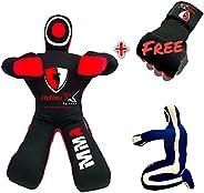 Infinix Sports Grappling Dummy Sitting Position BJJ Wrestling Dummy Punching Bag Submission MMA Dummy Brazilia