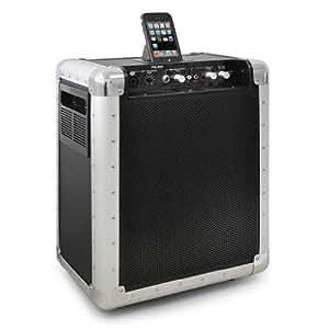 EQUIPO DE SONIDO PORTATIL A BATERIAS SKYTEC PA-201 200W iPod