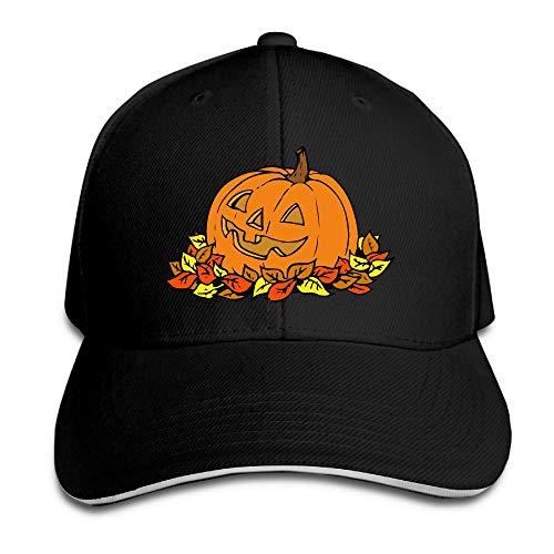 Unisex Pumpkin Clip Art Trucker Cap Adjustable Peaked Sandwich Cap