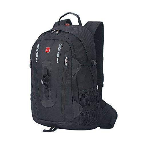 Soarpop Wasserdichter Laptoprucksack mit Großer Kapazität für Freizeit, Tagesrucksack, Outdoor- Rucksack, Reise- und Schultasche
